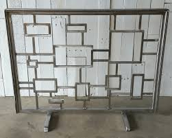 modren modern fireplace screens contemporary on hayneedle for sale