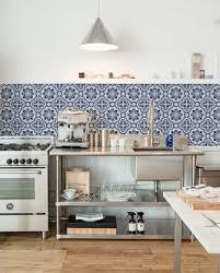 blue tile kitchen backsplash blue and white backsplash styles atticmag