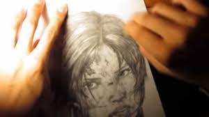 speed drawing lara croft w 0 5mm mechanical pencil youtube