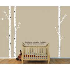 tree wall art and birch tree decals for nursery for girls
