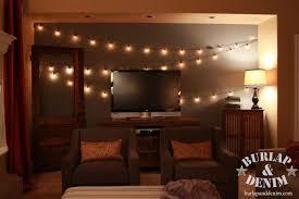 Edison Lights String by Indoor Garden Lights Of Summer Burlap U0026 Denimburlap U0026 Denim