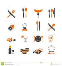kitchen tools silhouette icons set household stock illustration