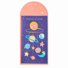 welcome to earth baby card greeting cards