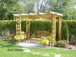 Backyard Plans Construire Une Pergola Pergolas Garden Structures And Craftsman