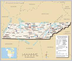 Map Of United States With Interstates by Reference Map Of Tennessee Usa Nations Online Project