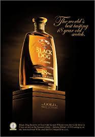 high class whiskey black dog scotch whisky shoe syrup sushi