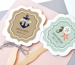 personalized wedding fans nautical wedding favor fans paddle fan fan