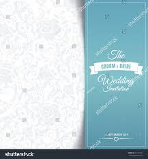 Invitation Cards Design With Ribbons Wedding Invitation Card Editable Background Chevron Stock Vector