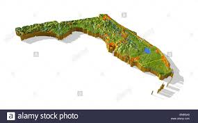 Florida Interstate Map by Florida 3d Relief Map With Urban Areas And Interstate Highways