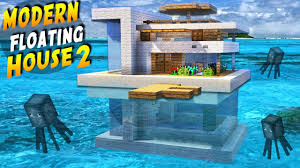 minecraft how to build a modern house on water 2 tutorial