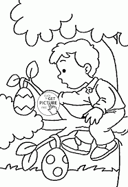 easter eggs on a branch coloring page for kids coloring pages