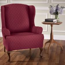 Wing Back Chair Slip Covers Buy Stretch Wing Chair Slipcover From Bed Bath U0026 Beyond