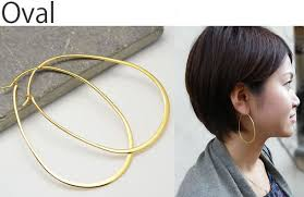 oval hoop earrings accessories salt rakuten global market yellow gold hoop