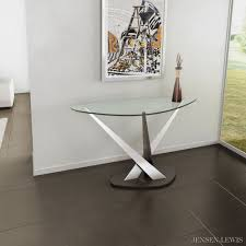 modern wood console table elite crystal console table 2035c jensen lewis new york furniture