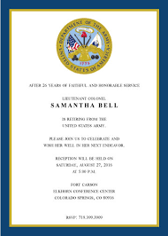 army retirement invitations wally designs