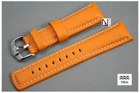 bracelet montre images Bracelet montre cuir hirsch carbone orange r sistant eau et sueur jpg