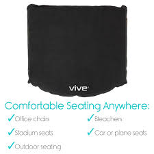 amazon com inflatable seat cushion by vive comfortable blow up