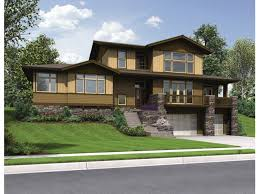 home plans for sloping lots eplans craftsman house plan delightful craftsman for uphill