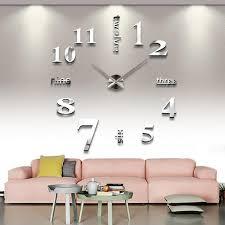 pendule cuisine design horloge murale moderne en placage ardoise et verre