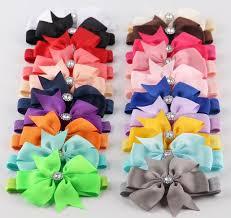 girl hair bows 20pcs lot 3 boutique grosgrain ribbon hair bows with girl