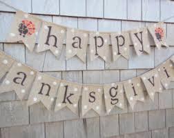 happy thanksgiving burlap banner thanksgiving bunting