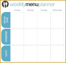 weekly menu templates free 7 child care menu templates free fabtemplatez fabtemplatez