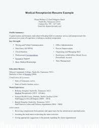 resume objective medical receptionist sample medical receptionist resume u2013 foodcity me