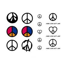 yeeech temporary tattoos sticker for peace sign