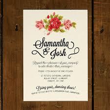 invitation wedding floral wedding invitations rectangle vintage flower images
