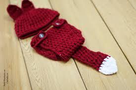 crochet fox set for little kids craft ideas