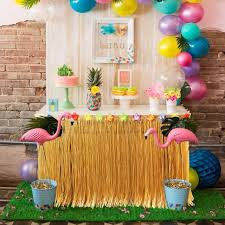 luau party decorations hawaiian party decorations 275x75cm artificial grass table skirt