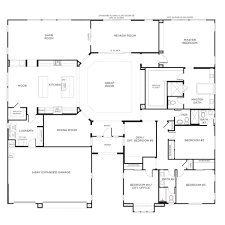 floor plans for large single story homes