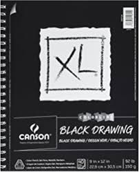 amazon com strathmore 400 series artagain pad coal black 9