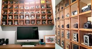 Vintage Camera Decor This Photographer U0027s Office Features His Collection Of Vintage Cameras