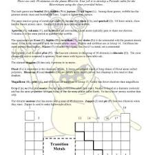 periodic table activity answers periodic table printable copy alien periodic table worksheet answers