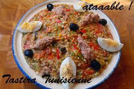 cuisine tunisien cuisine tunisienne la tastira salade