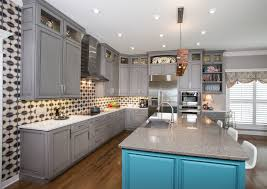 contemporary kitchen canisters grey granite countertop home bar transitional with shaker style
