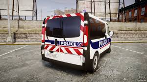 renault trafic back renault trafic police nationale for gta 4