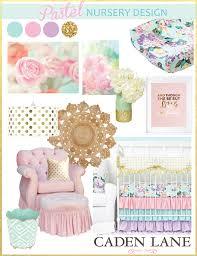 Pastel Crib Bedding Pastel Nursery Design With Bright Pastel Baby Bedding Caden
