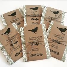 bird seed favors custom personalized memorial bird seed packets memorial favors