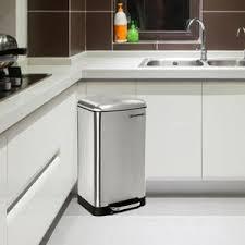 poubelles de cuisine sundis rotho poubelle de cuisine à pédale paso 20 l gris et noir