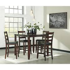 5 Piece Dining Room Sets Burnished Brown 5 Piece Dining Room Counter Table Set By Signature