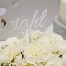 silver wedding table numbers sparkling silver wedding table numbers by ginger ray