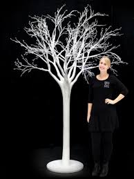 white tree scenery theming hire event prop hire