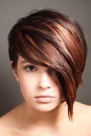 bronze copper highlights short hair ideas pinterest copper