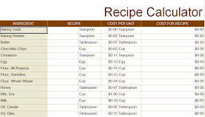 recipe spreadsheet expin memberpro co