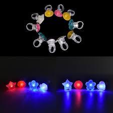 led light up rings colorful finger light led light up rings party gadgets kids