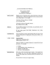 resume exles high education only disclaimer resume for secretary haadyaooverbayresort com