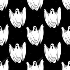 halloween seamless background cartoon scary ghosts in halloween seamless pattern u2014 stock vector