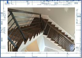 engineering express welded aluminum stair railing with grabrail